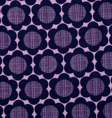 Ladies sizes in retro purple flowers print Scandi