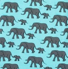 DUNS Sweden organic cotton ladies t-shirt in blue elephants print (S) 3