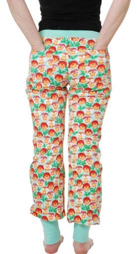 DUNS Sweden pansy organic cotton baggy pants - ladies 1