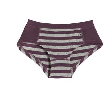 Striped organic cotton knickers for girls