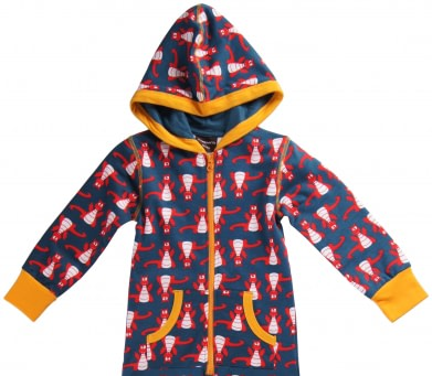 Maxomorra organic cotton onesie pyjamas in Dragon design 1
