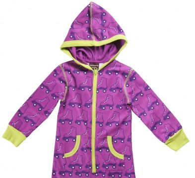 Purple organic cotton pyjamas in retro Scandinavian print by Maxomorra
