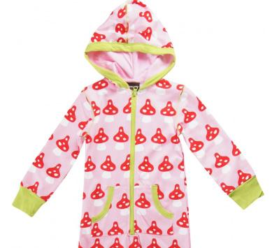 Organic cotton pyjamas by Maxomorra - toadstool print
