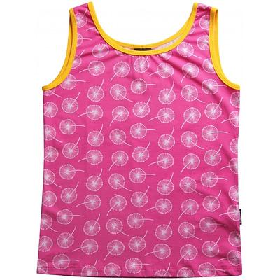 Ladies Maxomorra vest top in Dandelion clock print