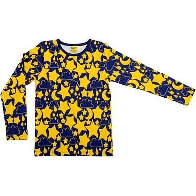 Gender neutral scandi bright children's clothing - star print by DUNS Sweden More than A Fling
