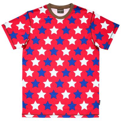 Red stars t-shirt adults Maxomorra