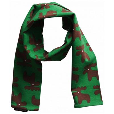 Organic cotton Christmas moose children's scarf
