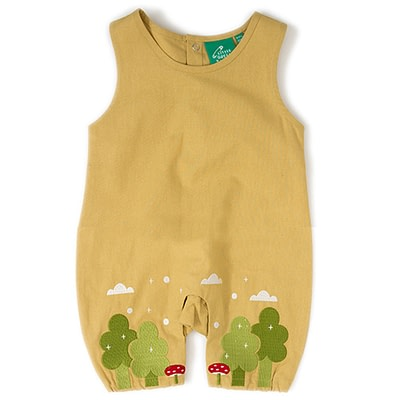 Little Green Radicals toadstool dungarees