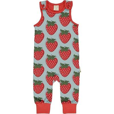 Maxomorra strawberry dungarees