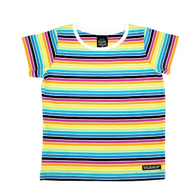 Villervalla rainbow stripe t-shirt