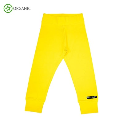 Villervalla sun yellow organic trousers