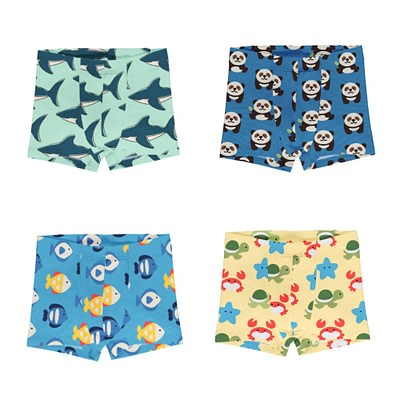 Maxomorra boxer shorts Sharks Panda Fish Beach