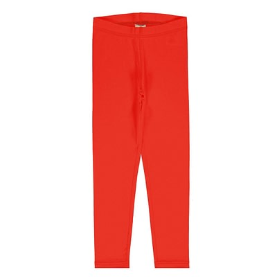 Maxomorra poppy red leggings