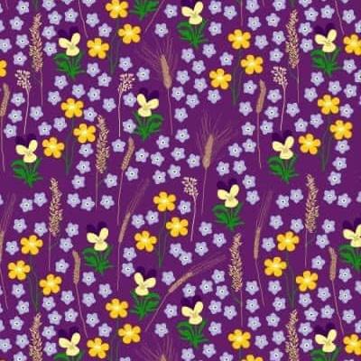DUNS Sweden meadow purple tablecloth