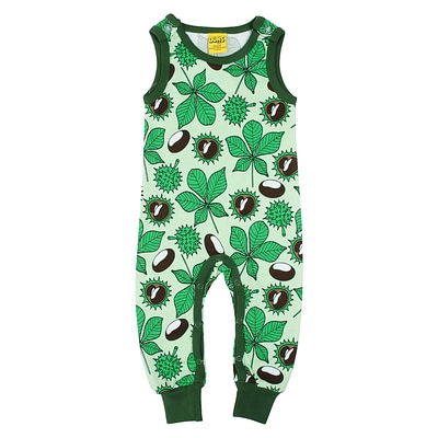 DUNS Sweden dungarees green conkers