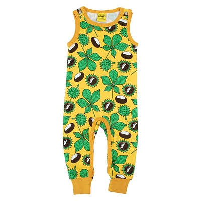 DUNS Sweden dungarees - conkers yellow