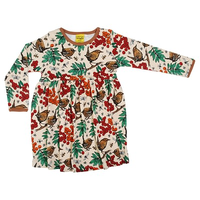 DUNS Sweden twirly dress rowanberry