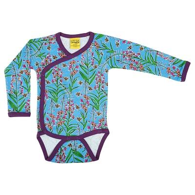 DUNS Sweden kimono baby vest willowherb