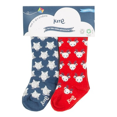 Kite ethical reindeer christmas socks
