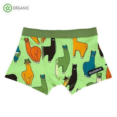 Villervalla ethical kids boxer shorts - llama