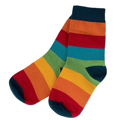 Villervalla ethical stripy socks - athens