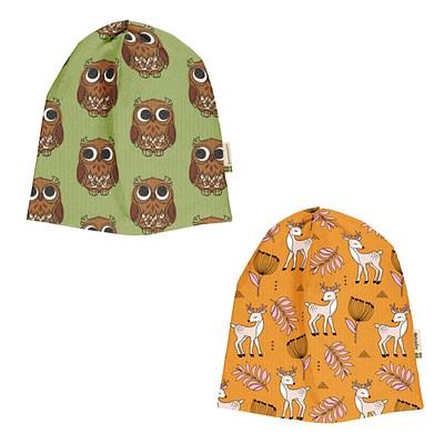 Maxomorra Meyadey beanie hat Owl Poppy Deer