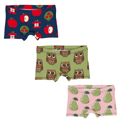 Maxomorra boxer briefs underwear apple owls pears