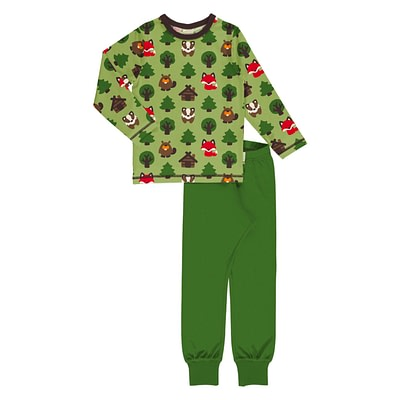 Maxomorra green forest pyjamas