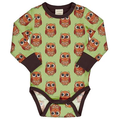Maxomorra baby vest owl