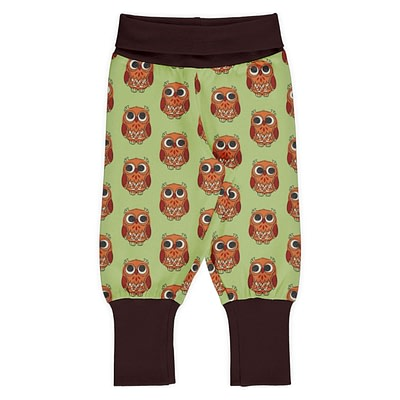 Maxomorra rib pants owls