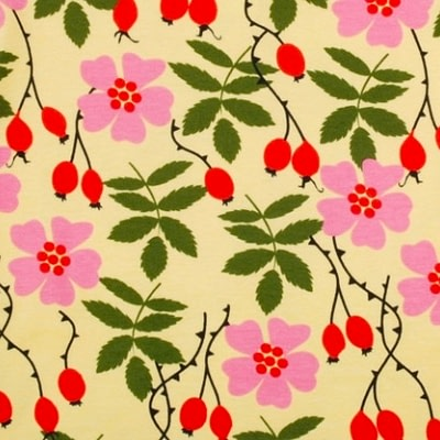 DUNS Sweden rosehip print