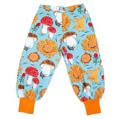 DUNS Sweden baggy pants blue sunflower