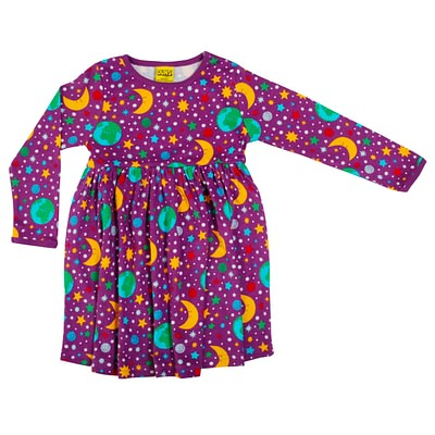 DUNS Sweden twirly dress mother earth violet