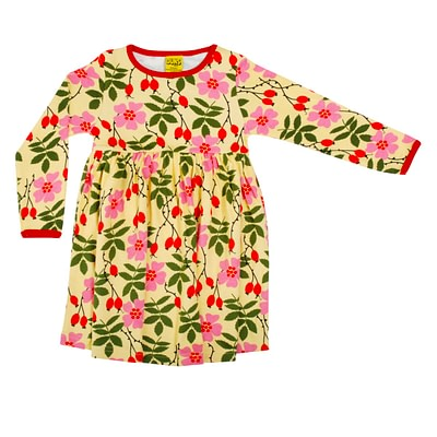 DUNS Sweden twirly dress rosehip