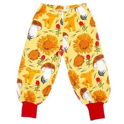 DUNS Sweden mushroom and sunflower baggy pants