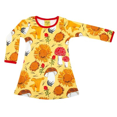DUNS Sweden long sleeve dress sunflower