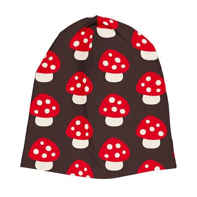 Maxomorra velour beanie mushroom
