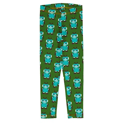 Maxomorra leggings robot green