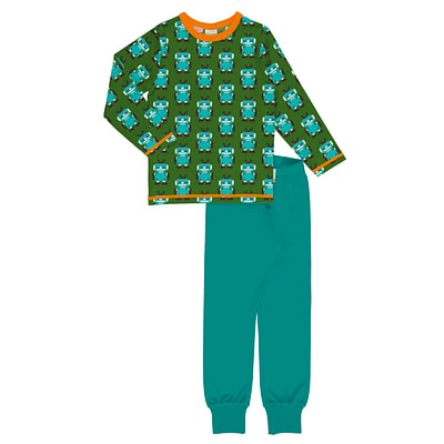 Maxomorra pyjamas robot green
