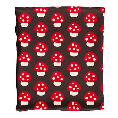 Maxomorra velour tube scarf mushroom