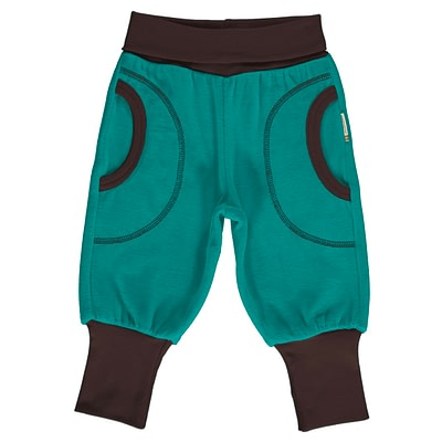 Maxomorra velour rib pants lagoon