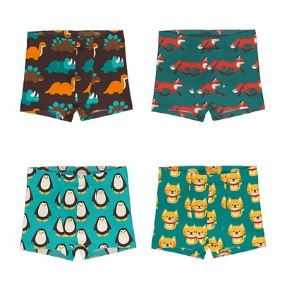 Maxomorra boxer shorts penguin foxes dinosaurs