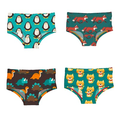 Maxomorra knickers dinosaur penguin cat fox