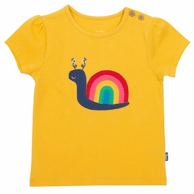 Kite t-shirt rainbow snail