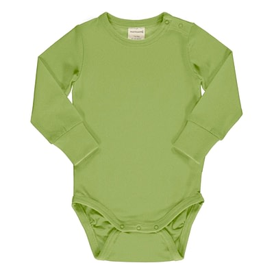 Maxomorra pear green bodysuit