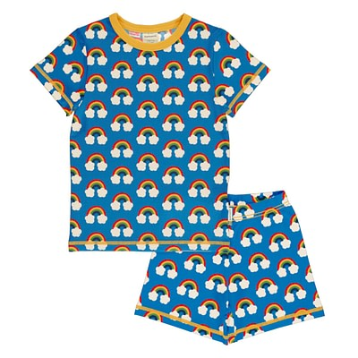 Maxomorra rainbow short sleeve pyjamas