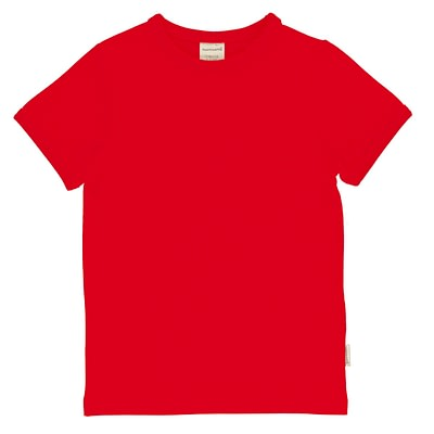 Maxomorra t-shirt solid ruby red