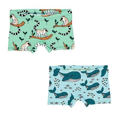 Meyadey boxer briefs | whales lemurs