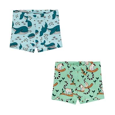 Meyadey boxer shorts Whales Lemurs