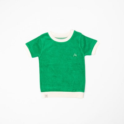 Alba Jelly Bean green vesta t-shirt in frotte